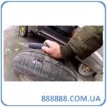 Видео. Ремонт колеса шнуром